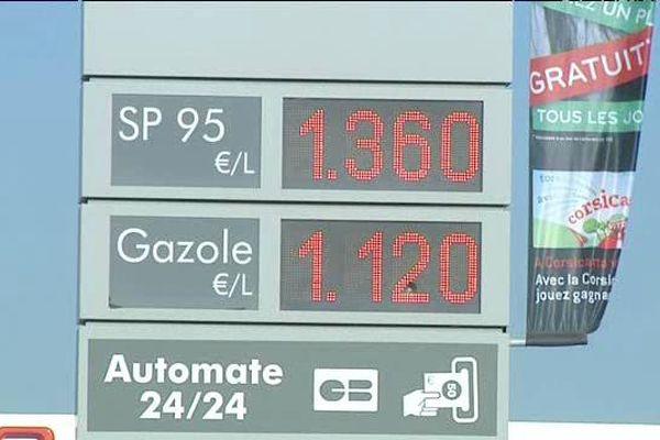 Le prix de l'essence en Corse est au plus bas depuis 10 ans