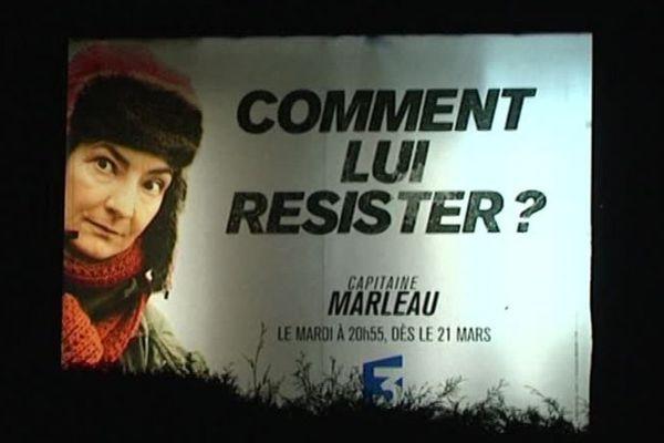 Un panneau d'affichage à Roubaix.