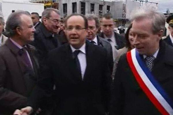 François Hollande en déplacement dans le Val d'Oise