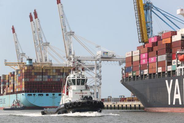 Illustration. Le port du Havre est le deuxième port français par le volume de marchandises.