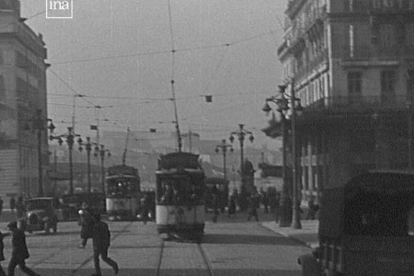 Marseille, la canebière avant la seconde guerre mondiale