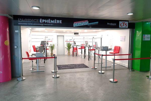 L'agence éphémère de la gare, dédiée à la gratuité, est ouverte du lundi au samedi, de 9 heures à 18 heures.
