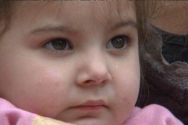 La petite Maria, arrivée l'année dernière en France.
