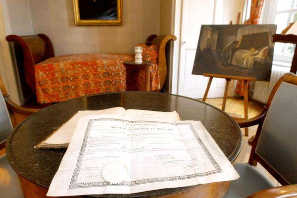 Vue de la chambre où est né Gustave Flaubert le 12 décembre 1821, à Rouen.