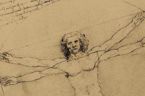Le croquis de l'homme de Vitruve illustre à merveille le génie de Vinci