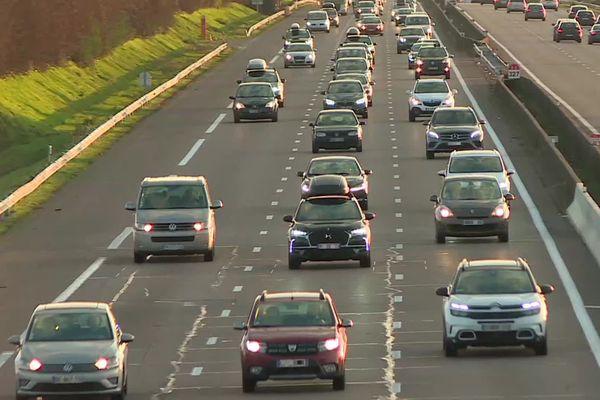 L'autoroute A6, le 4 janvier 2020.