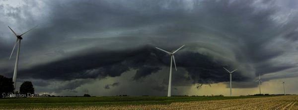L'orage dans le Nord -Est de la Vienne