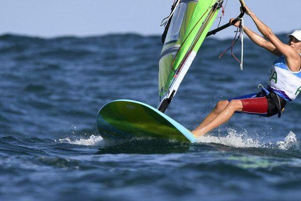 La Trembladaise, Charline Picon, aux Jeux Olympiques de Rio.