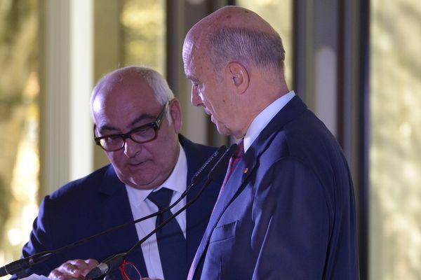 Ludovic Martinez en compagnie du maire de Bordeaux
