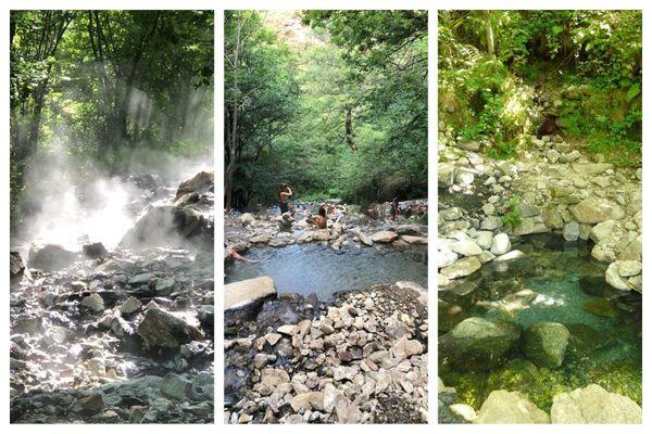 Prats Balaguer, Merens-les Vals.... et d'autres. Une idée détente dans les bains d'eau chaude naturels.