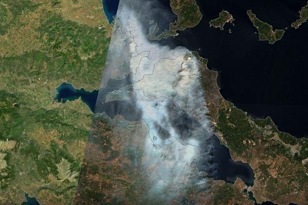 Des milliers d'hectares sont partis en fumée sur l'île d'Eubée, en Grèce - août 2021.