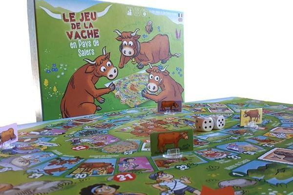 le jeu de la vache en pays de Salers est un jeu de l'oie revisité.