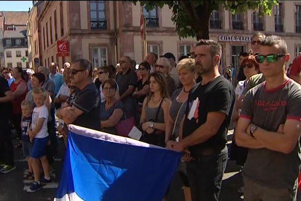 L'hommage aux victimes de l'attentat de Nice, samedi, à Montbéliard