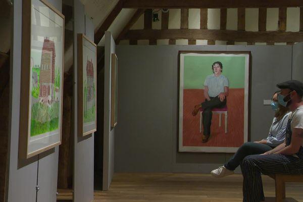 Une quarantaine d'œuvres de David Hockney sont exposées aux Dominicaines à Pont-L'Evêque jusqu'au 26 septembre