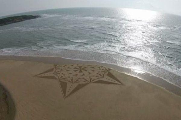 """L'une des créations 'effet mer"""" de J. Ben."""