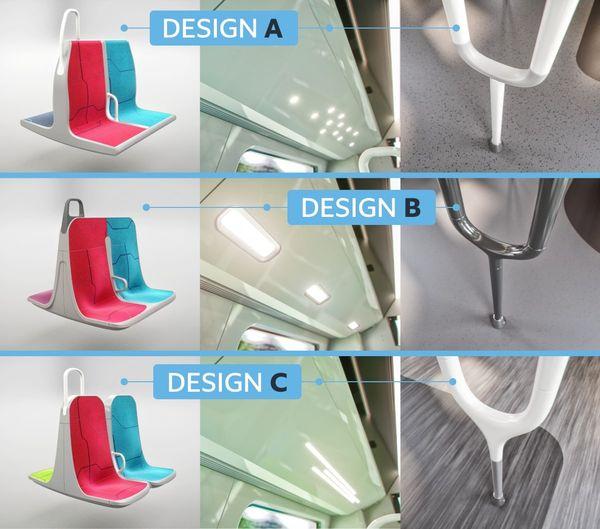 """À l'intérieur, vous aurez le choix entre 3 """"packs"""" d'aménagements qui comportent des sièges, des barres de préhension (pour vous tenir) et des éclairages différents."""