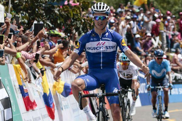 Le Montluçonnais Julian Alaphilippe (Quick Step) a ravi à son équipier colombien Fernando Gaviria la tête de la Colombia Oro y Paz cycliste, vendredi, après sa victoire dans la 4e étape conclue par une arrivée en altitude à El Tambo, après 145,9 km depuis Buga.