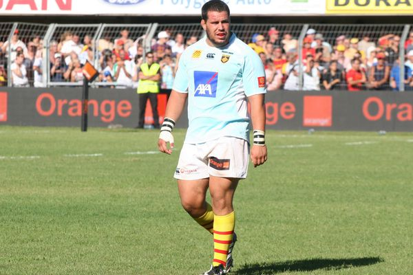 Benoît Bourrust sous le maillot de l'USAP en 2009