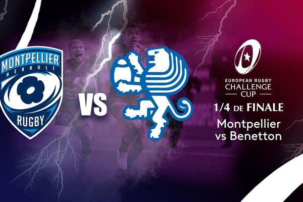 Montpellier, dernier représentant français en Challenge européen de rugby, vise une place dans le dernier carré, samedi face aux Italiens de Trévise, tombeur d'Agen au tour précédent.