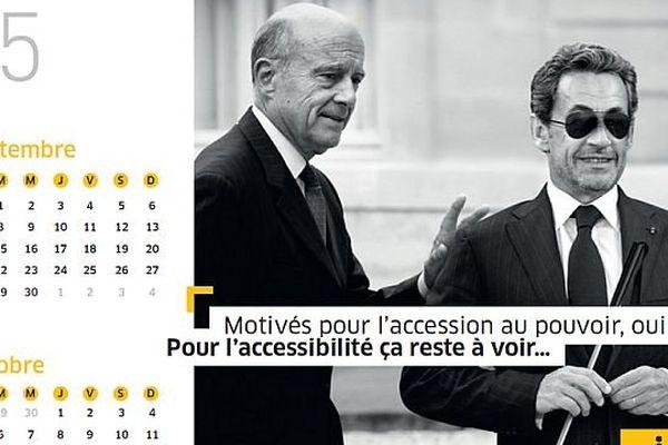Calendrier 2015 de la Fédération des Aveugles de France