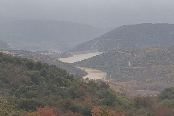 Le barrage de l'Agly à Caramany a atteint un record de 38,5 millions de mètres cubes stockés mercredi soir