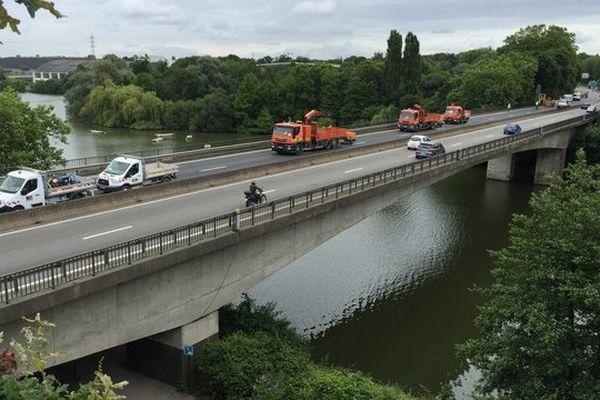 Des réparations sur le pont de la Beaujoire impliquent la fermeture du périphérique extérieur au nord-est de Nantes