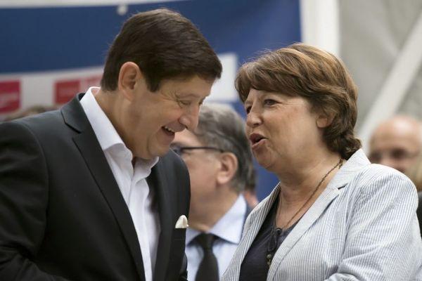 Patrick Kanner et Martine Aubry en 2016.