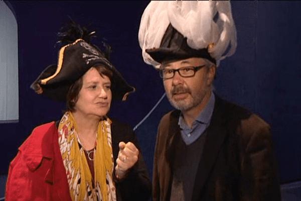 Sabine Daniel et Patrick Foll, directeur du théâtre de Caen