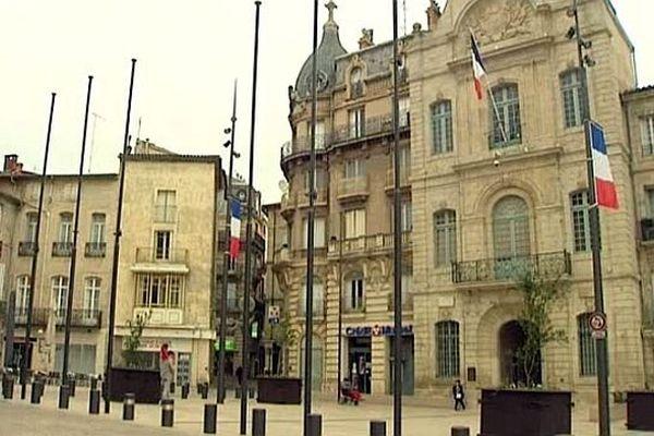 Béziers (Hérault) - la mairie - janvier 2014.