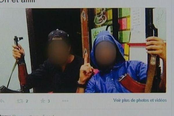 Photo twitter montrant l'un des deux jeunes montargois parti faire le djihad en Syrie en 2014.