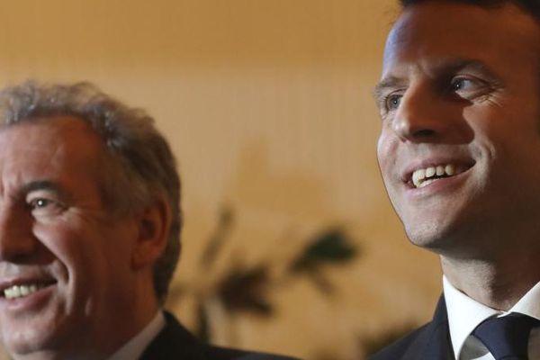 François Bayrou et Emmanuel Macron le 24 février 2017.
