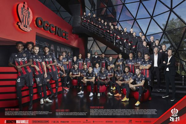 La photo officielle du club de l'OGC Nice.