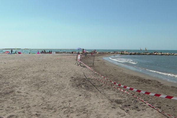La plage Landsberg à Saint-Laurent-du-Var reste toujours fermée, comme pendant l'été 2020, date de cette photo.
