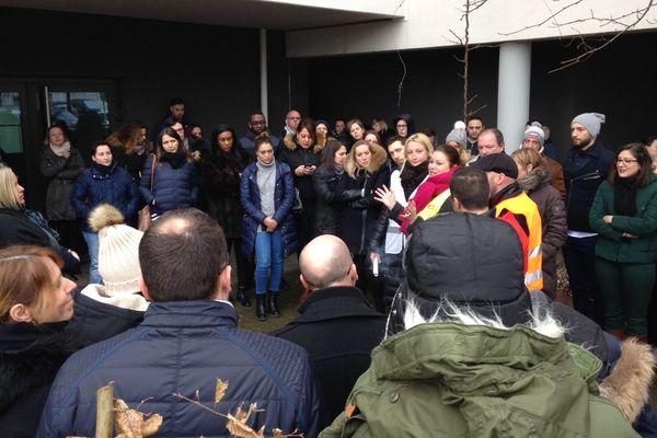 """Manifestation des salariés """"Pages Jaunes"""" à Nancy"""