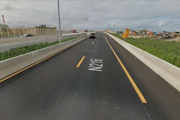 Un barrage avait été érigé sur la route nationale 216 à Calais.