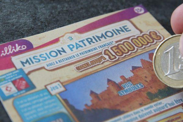 """Les jeux de grattage et le super loto pour """"Mission du patrimoine"""" seront disponibles dès les 31 août 2020."""