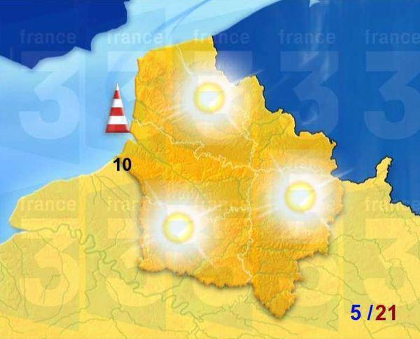 Carte Météo France pour ce dimanche 9 avril