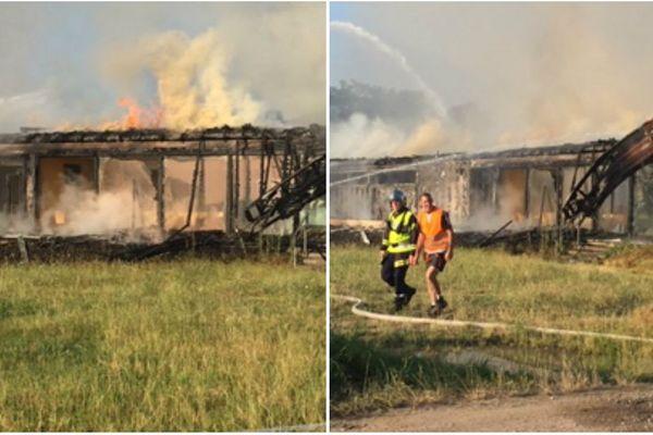 Incendie du club house d'Eckwersheim