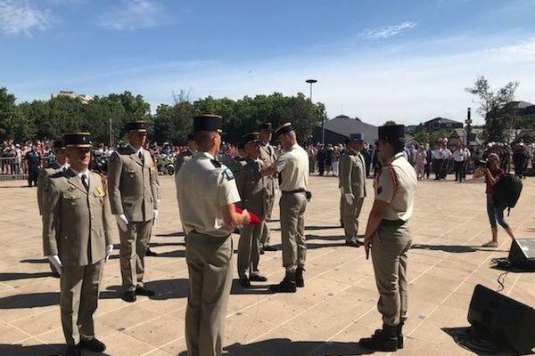 Remise de médailles à l'occasion des cérémonies du 14-juillet à Brive