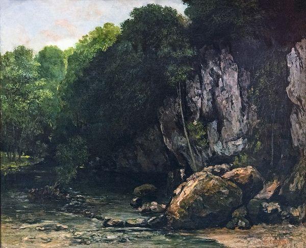 """""""Le Ruisseau du puits noir"""" de Gustave Courbet (1865)"""