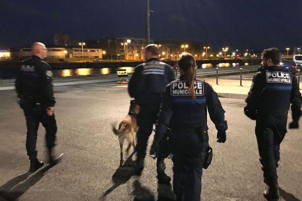 Patrouille de nuit de la police municipale de Dunkerque.
