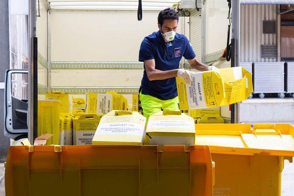 177 tonnes de déchets médicaux ont été traitées au CHU de Limoges en avril, soit 18 tonnes de plus qu'en temps normal