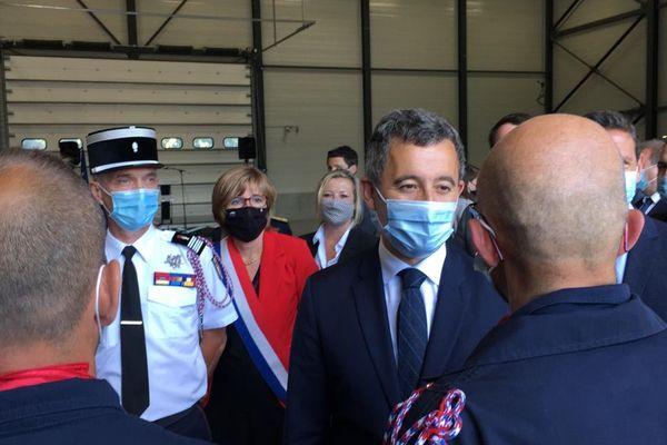 Gérald Darmanin, le ministre de l'Intérieur, était en visite chez les pompiers d'Aussillon, dans le Tarn, ce jeudi 8 juillet 2021.