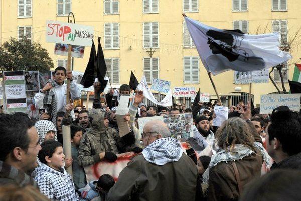 De nombreux rassemblements de soutien à la bande de Gaza se sont déjà tenus en Corse depuis le début des opérations israéliennes.