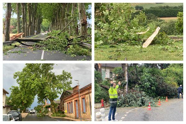 Comme annoncé par Météo France, des orages forts ont causé des dégâts en Haute-Garonne et dans le Tarn - 17 juin 2021.