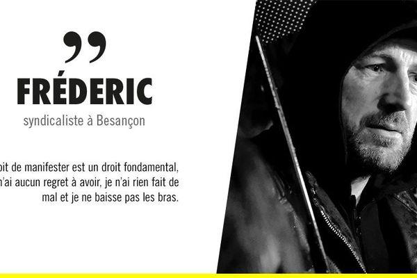 Le leader des gilets jaunes de Besançon, exemple de l'acharnement judiciaire selon le rapport d'Amnesty International.