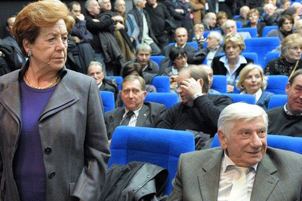 Paul Natali, au côté de son épouse, Anne-Marie Natali, le 24 janvier 2010