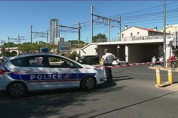 Alerte au colis suspect devant la gare TGV de Perpignan le 31 mai 2019
