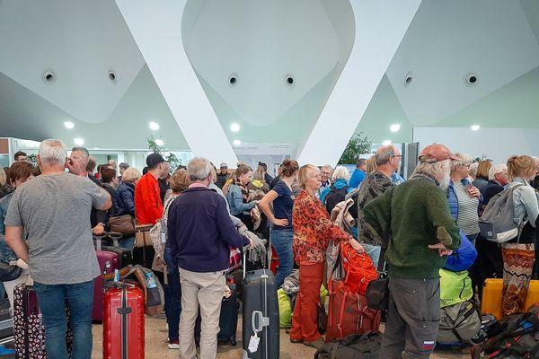 Des passagers français bloqués dans tous les aéroports du Maroc, comme ici à Marrakech.
