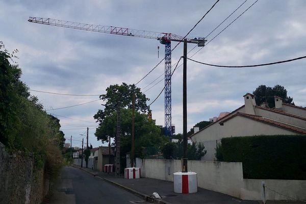 Le chantier de la rue Jausserand, dans le quartier montpelliérain de la Pompignane.